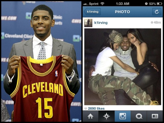 78f9d468eca9 Caught  Cleveland Cavaliers Point Guard Kyrie Irving Caught Cheating On  Instagram